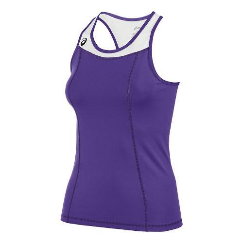 Womens ASICS Chaser Shimmel Sleeveless & Tank Technical Tops - Purple/White M