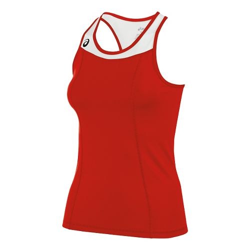 Womens ASICS Chaser Shimmel Sleeveless & Tank Technical Tops - Red/White M