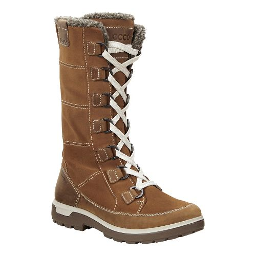 Womens Ecco Gora Tall Boot Casual Shoe - Camel 41