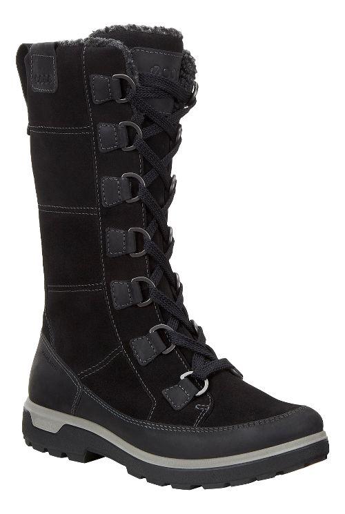 Womens Ecco Gora Tall Boot Casual Shoe - Black 35