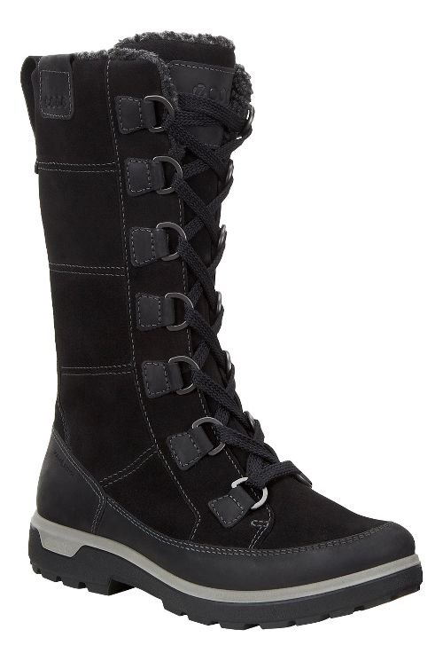 Womens Ecco Gora Tall Boot Casual Shoe - Black 39