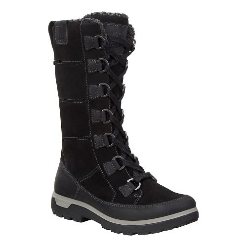 Womens Ecco Gora Tall Boot Casual Shoe - Black 38