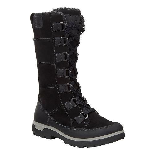Womens Ecco Gora Tall Boot Casual Shoe - Black 39