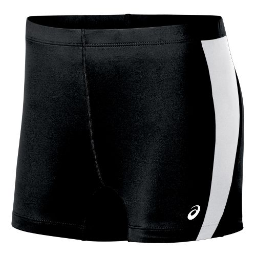 Womens ASICS Chaser Compression & Fitted Shorts - Black/White L