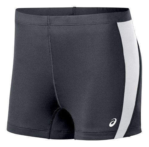 Womens ASICS Chaser Compression & Fitted Shorts - Steel Grey/White L