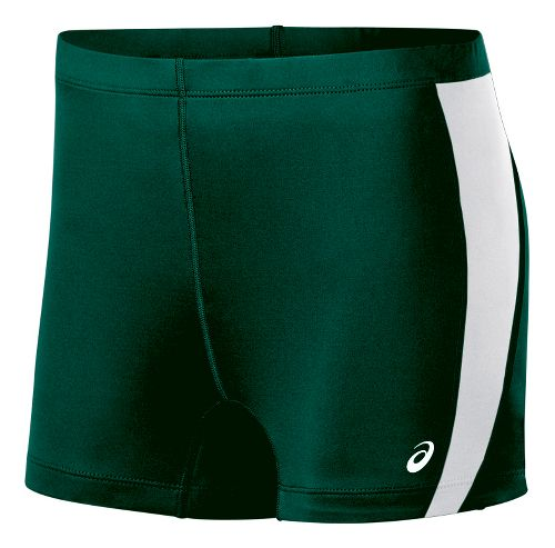 Womens ASICS Chaser Compression & Fitted Shorts - Forest/White L