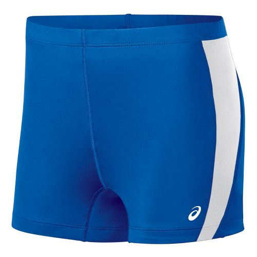 Womens ASICS Chaser Compression & Fitted Shorts - Royal/White M