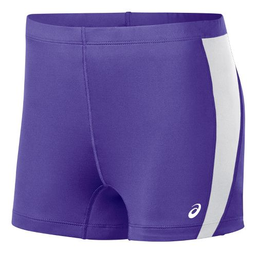 Womens ASICS Chaser Compression & Fitted Shorts - Purple/White S