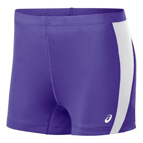 Womens ASICS Chaser Compression & Fitted Shorts - Purple/White XXS