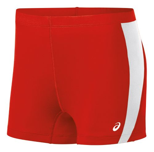 Womens ASICS Chaser Compression & Fitted Shorts - Red/White XXS