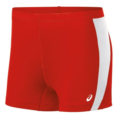 Womens ASICS Chaser Compression & Fitted Shorts - Red/White M