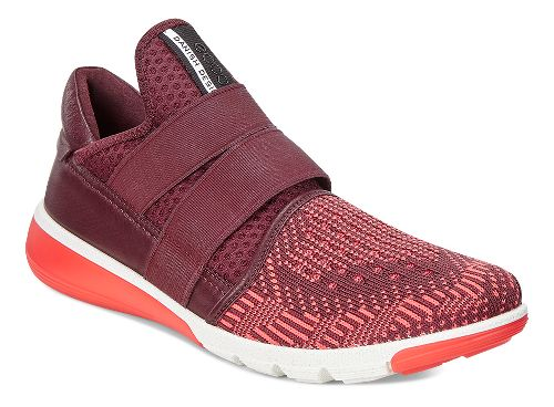 Womens Ecco Intrinsic 2 Band Casual Shoe - Bordeaux/Coral 39