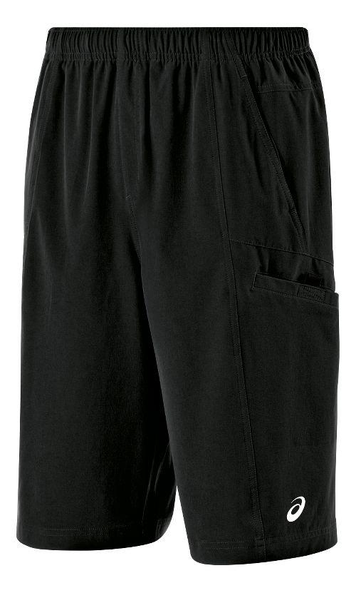 Mens ASICS Cargo Unlined Shorts - Black M