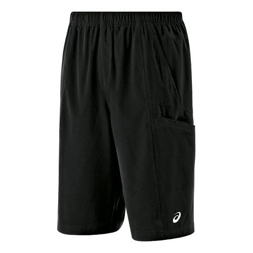 Mens ASICS Cargo Unlined Shorts - Black M