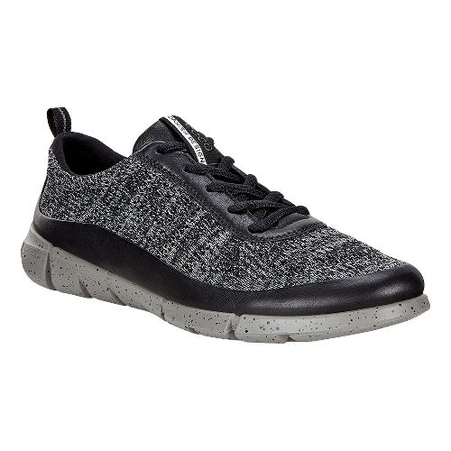 Womens Ecco Intrinsic Knit Casual Shoe - Black/Concrete 36