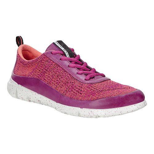 Womens Ecco Intrinsic Knit Casual Shoe - Fuchsia/Coral 37