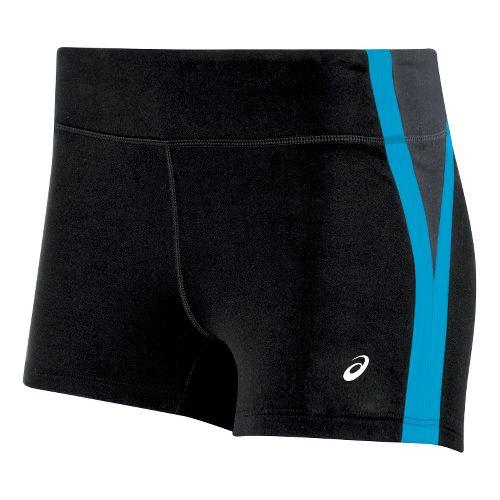 Womens ASICS Impulse Unlined Shorts - Black/Blue M