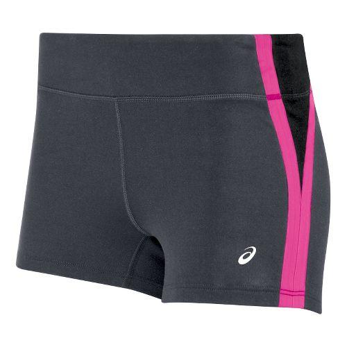 Womens ASICS Impulse Unlined Shorts - Grey/Pink XXL