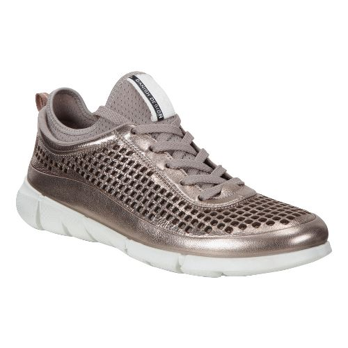Womens Ecco Intrinsic Sneaker Casual Shoe - Warm Grey/Metallic 37