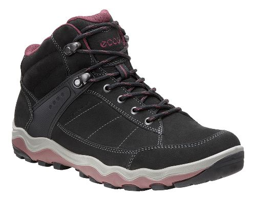 Womens Ecco Ulterra High GTX Hiking Shoe - Black/Morillo 39
