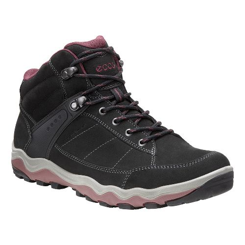 Womens Ecco Ulterra High GTX Hiking Shoe - Black/Morrillo 36