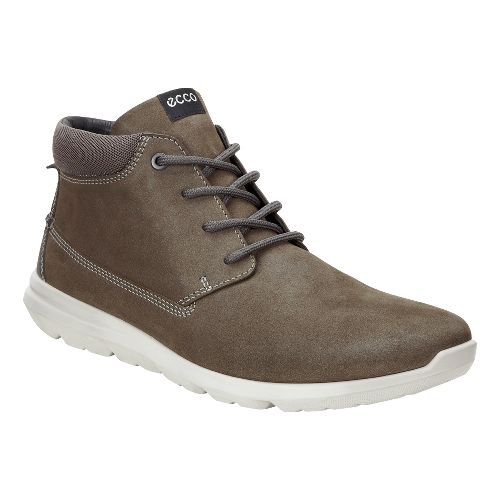 Mens Ecco Calgary High Casual Shoe - Tarmac 45