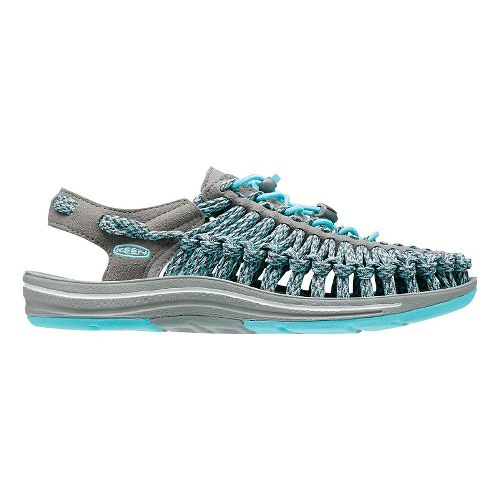 Womens KEEN Uneek Flat Casual Shoe - Grey/Blue 7.5