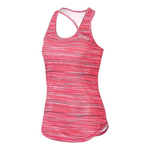 Womens 2XU ICE X Singlet Sleeveless & Tank Technical Tops - Cherry Pink L