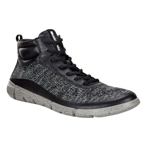 Mens Ecco Intrinsic 1 High Casual Shoe - Black/Concrete 46