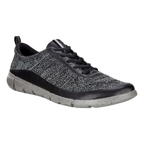 Mens Ecco Intrinsic Knit Casual Shoe - Black/Concrete 46