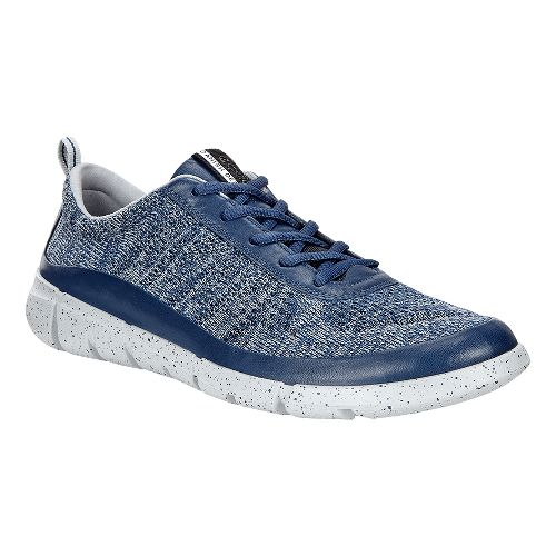 Mens Ecco Intrinsic Knit Casual Shoe - True Navy/Concrete 43