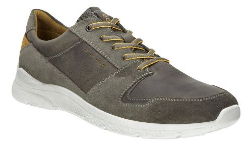 Mens Ecco Irondale Retro Low Casual Shoe - Warm Grey 39
