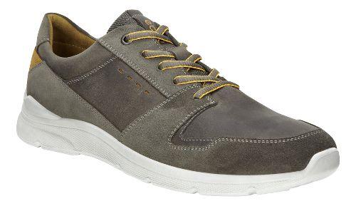 Mens Ecco Irondale Retro Low Casual Shoe - Warm Grey 40