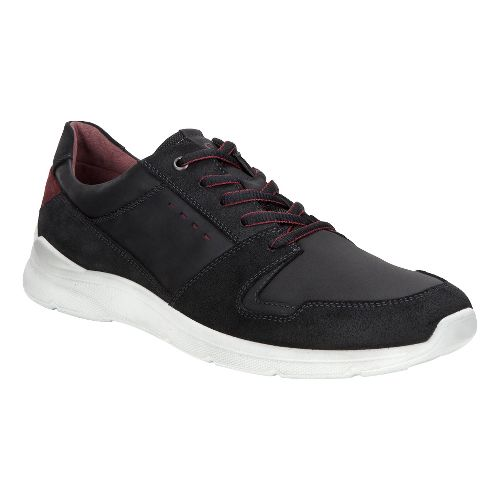 Mens Ecco Irondale Retro Low Casual Shoe - Black 45