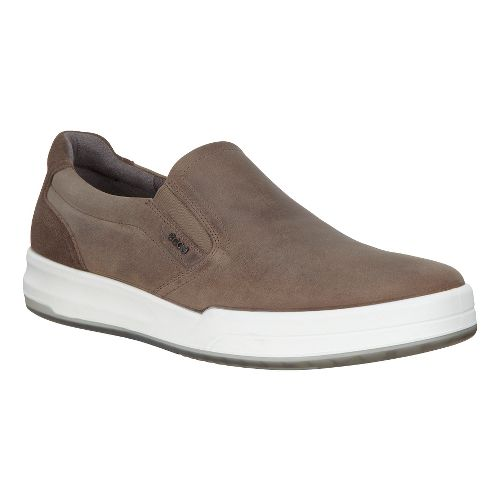 Mens Ecco Jack Slip-On Casual Shoe - Stone 45