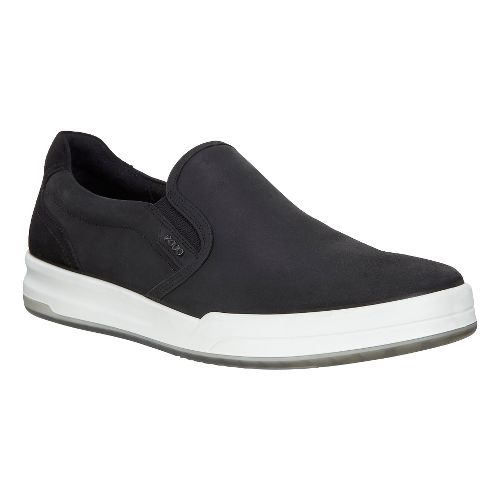 Mens Ecco Jack Slip-On Casual Shoe - Black 46
