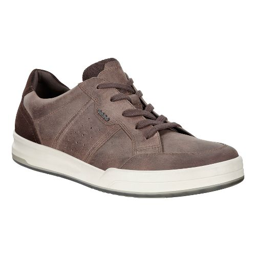 Mens Ecco Jack Tie Casual Shoe - Cocoa Brown 40