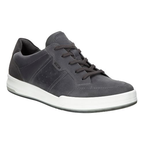 Mens Ecco Jack Tie Casual Shoe - Moonless 44