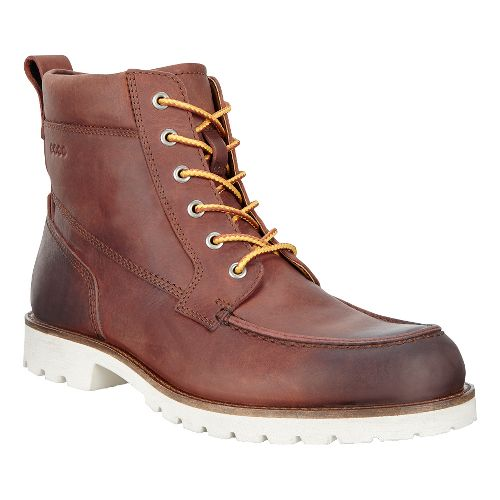 Mens Ecco Jamestown High Casual Shoe - Amber 42