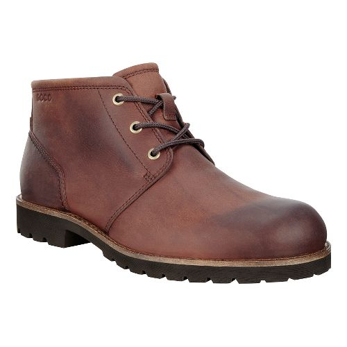 Mens Ecco Jamestown Mid Casual Shoe - Cognac 42