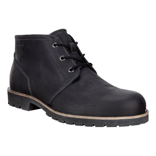Mens Ecco Jamestown Mid Casual Shoe - Black 44