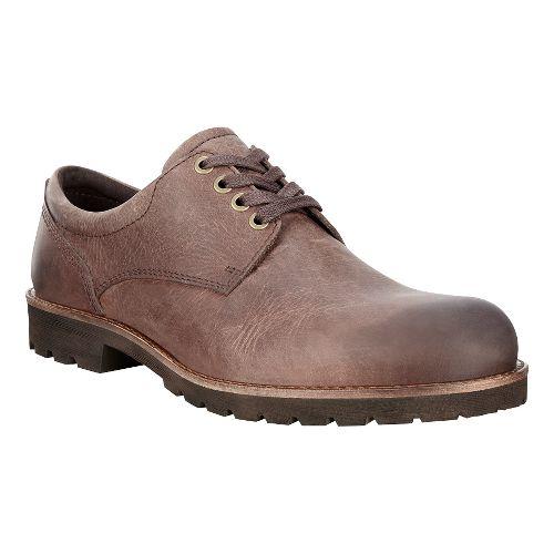 Mens Ecco Jamestown Tie Casual Shoe - Cocoa Brown 42