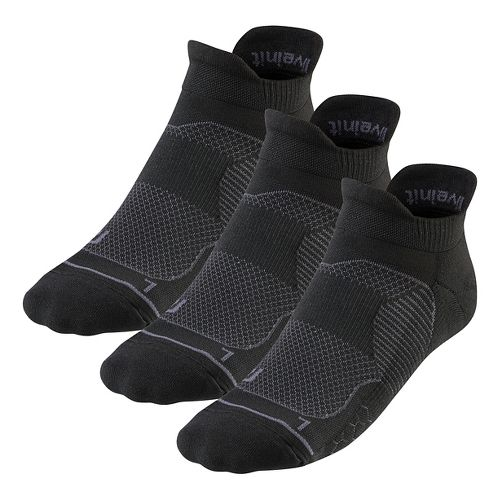 R-Gear Unstoppable Thin Cushion No Show Tab 3 pack Socks - Black L