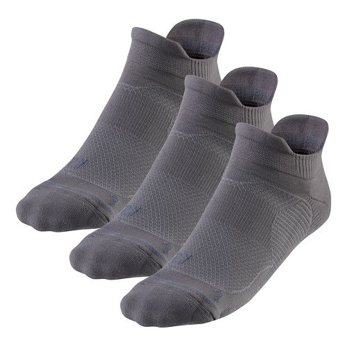 R-Gear Unstoppable Thin Cushion No Show Tab 3 pack Socks - Steel L