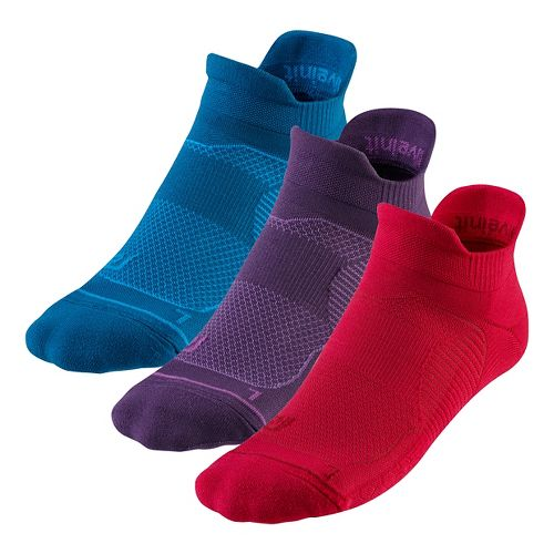 R-Gear Unstoppable Thin Cushion No Show Tab 3 pack Socks - Teal Nights M