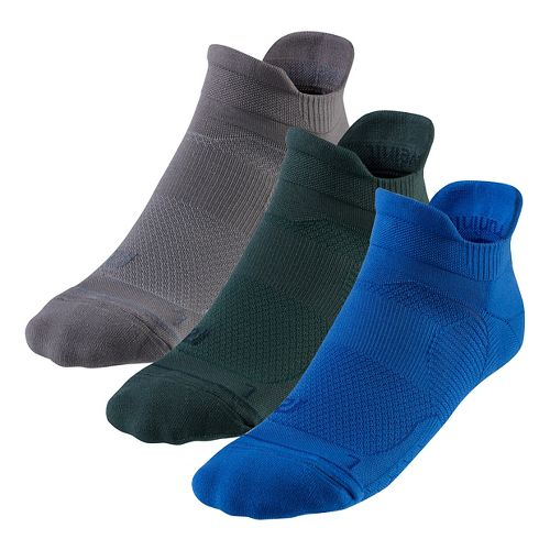 R-Gear Unstoppable Thin Cushion No Show Tab 3 pack Socks - Cobalt M