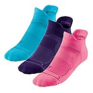 R-Gear Unstoppable Thin Cushion No Show Tab 3 pack Socks - Neon Pink S