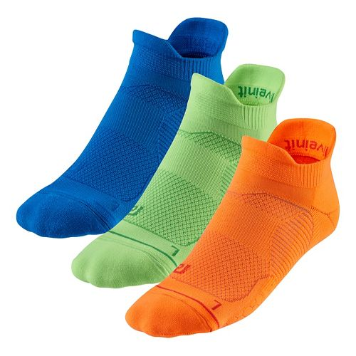 R-Gear Unstoppable Thin Cushion No Show Tab 3 pack Socks - Neon Glow M