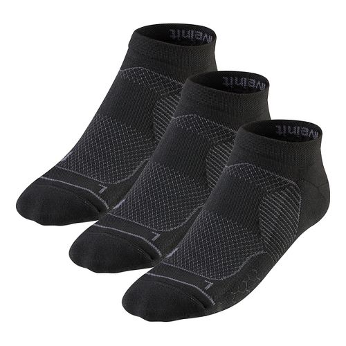 R-Gear Unstoppable Thin Cushion Low Cut 3 pack Socks - Black XL