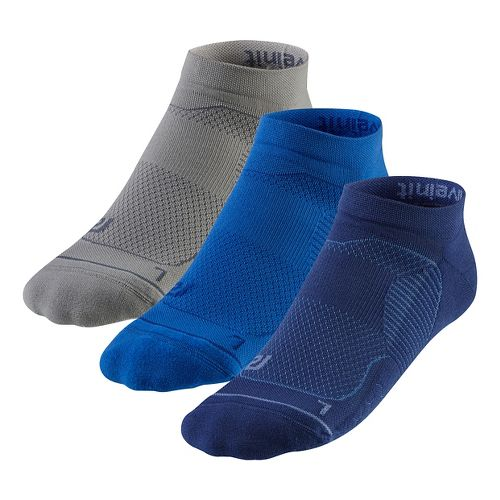 R-Gear Unstoppable Thin Cushion Low Cut 3 pack Socks - Cobalt M